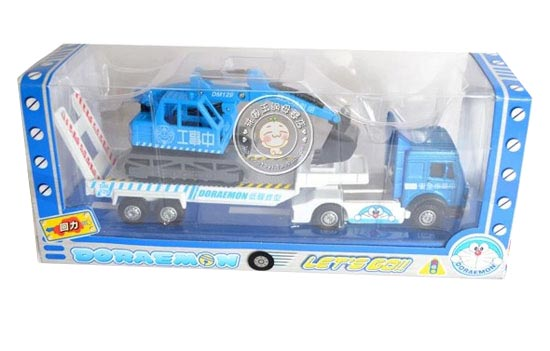 Kids White-Blue Doraemon Theme Tow Truck Toy