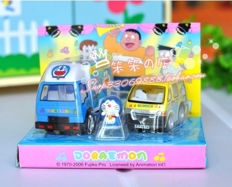 Kids Mini Scale Blue / Yellow Bandai Doraemon Bus Toy