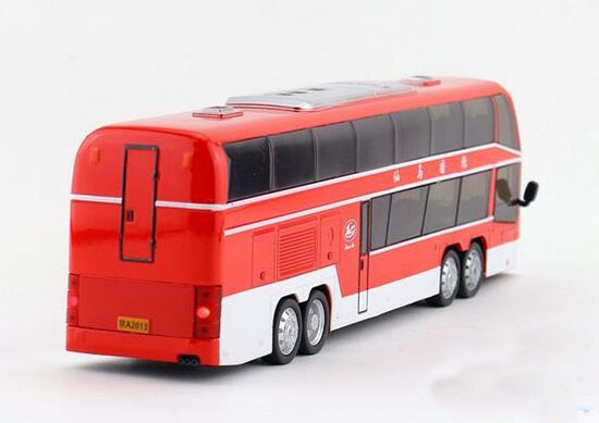 Kids Orange / Yellow / Red / White Double-Decker Tour Bus Toy