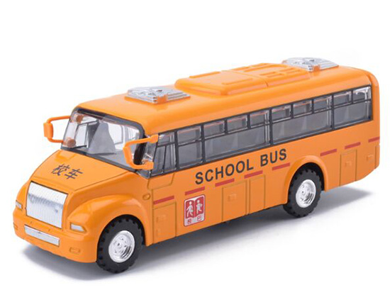 Yellow Kids Pull-Back Function School Bus Toy