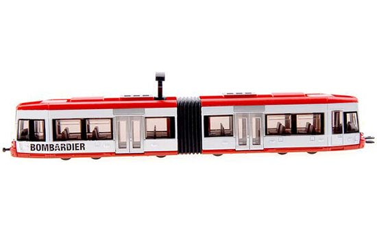 Kids 1:87 Scale Red-White SIKU 1895 Die-cast Trolley Bus Toy