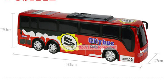 Kids Large Scale Red Electric City Bus Toy