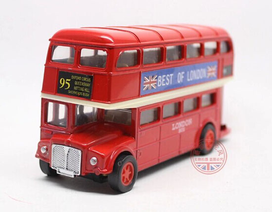 Pull-Back Function Kids Red Die-Cast London Double-decker Bus