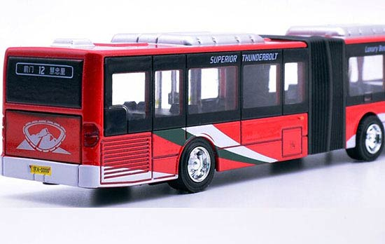 Kids Red / Green / Yellow Die-Cast BeiJing Articulated City Bus