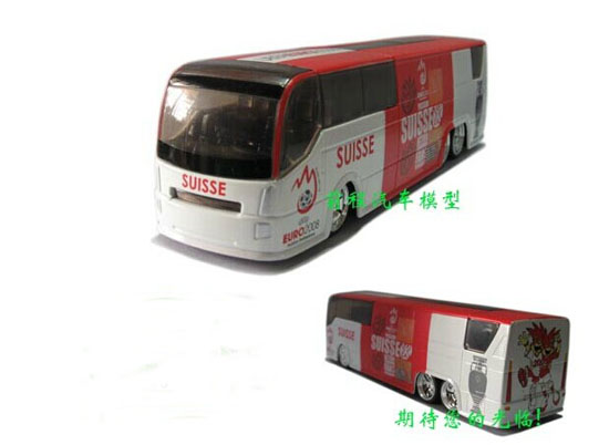 Die-Cast 2008 European Football Championship Switzerland Bus Toy