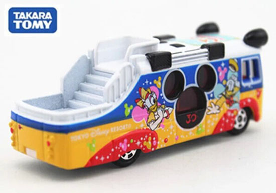 Mini Scale Colorful Die-Cast TOMY Tokyo Disney Bus Toy