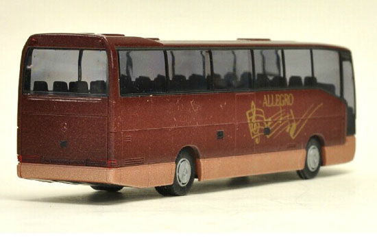 Red 1:87 Scale Rietze Mercedes-Benz Bus Model