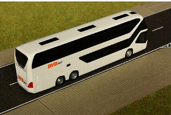 White 1:87 Scale Rietze Neoplan Skyliner 2011 BVB Tour Bus