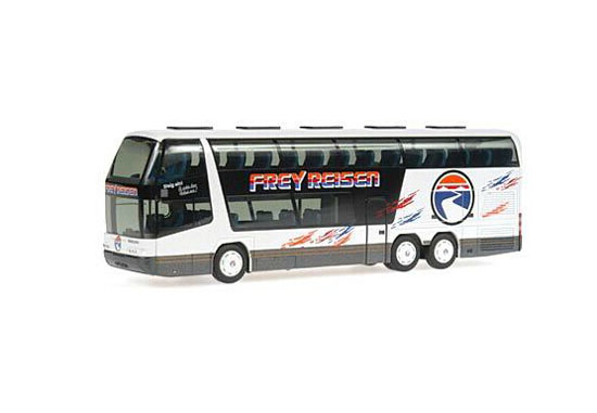 White 1:87 Scale Rietze Neoplan Skyliner Frey Reisen Bus Model
