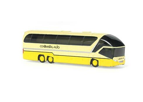 Mini Scale White-Yellow Neoplan Starliner 2 Madrid Bus Model