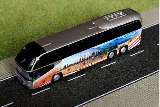 Silver 1:87 Scale Neoplan Cityliner C 07 Miami Tour Bus Model