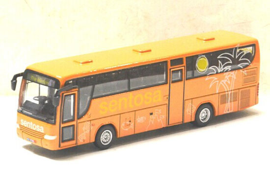 1:87 Scale Orange Sentosa Die-Cast Tour Bus Model