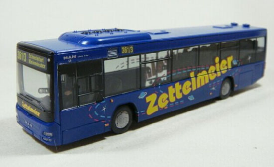 Blue 1:87 Scale Wiking MAN LION CITY BUS Model