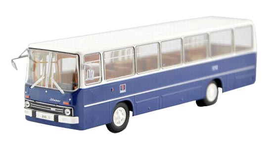 Blue-White 1:72 Scale Atlas Die-Cast Ikarus 260 Bus Model