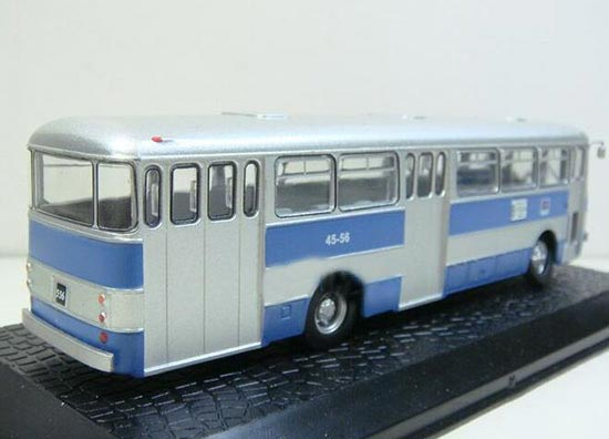 Blue-Silver 1:72 Scale Atlas Die-Cast Ikarus 556 Bus Model