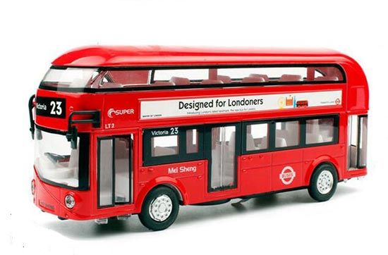 1:32 Blue /Red /White Kids Die-Cast London Double-Decker Bus Toy