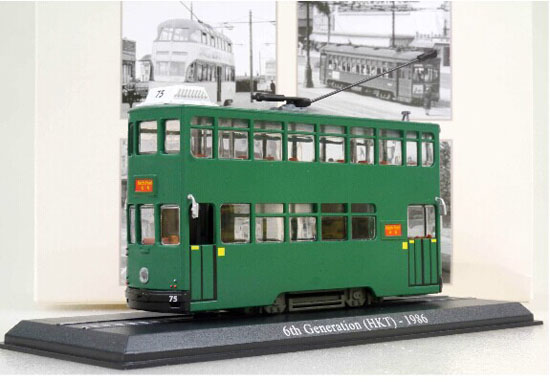 Green 1:87 Scale Atlas 6th Generation HKT 1986 Tram Model