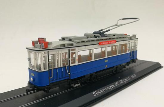1:87 Scale Atlas Blauwe Wagen 465 Beijnes 1929 Tram Model