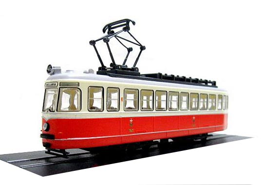 Red-White Atlas 1:87 Scale C1 Nr141 Graz Pauker 1957 Tram Model