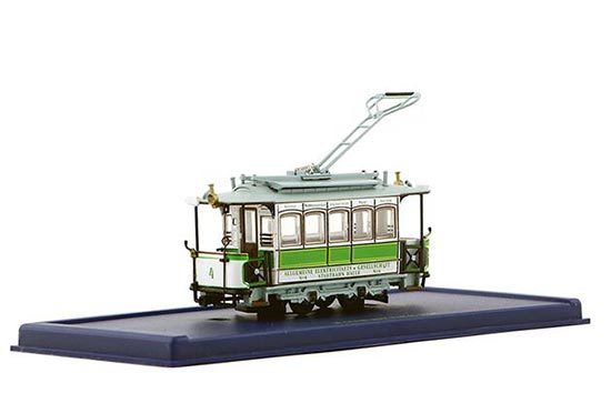 1:87 Scale Green-White L AFFAIRE Tram Model