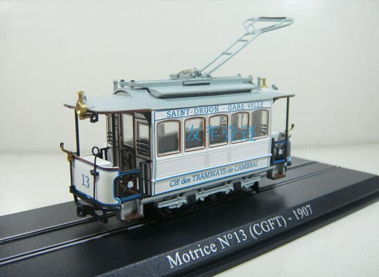 White 1:87 Scale Atlas Motrice N 13 CGPT 1907 Tram Model