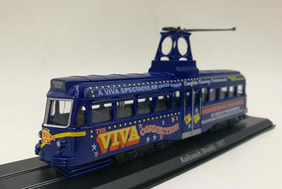 Blue 1:87 Scale Atlas Railcoach Brush 1937 Tram Model