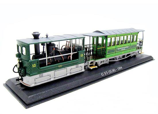 Green 1:87 Scale Atlas G 3/3 SLM 1894 Tram Model