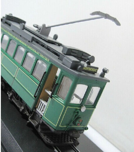 Green 1:87 Scale Atlas MOTRICE WALKER MSG 1899 Tram Model