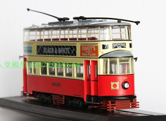 Red-White 1:87 Scale Atlas Double-Deck London Tram Model