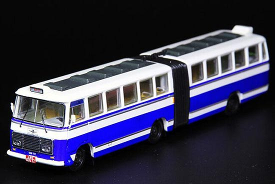 Blue 1:76 Scale NO. 83 ShangHai SK661F Die-Cast Bus Model