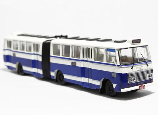 Blue 1:76 Scale NO. 68 ShangHai SK661F Die-Cast Bus Model