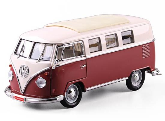 1:18 Scale Blue / Green / Red Diecast 1962 VW Bus Model