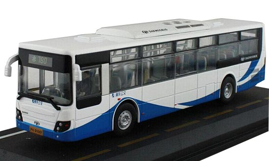 1:50 Scale Blue-White NO.780 Die-Cast ShangHai Daewoo Bus Model