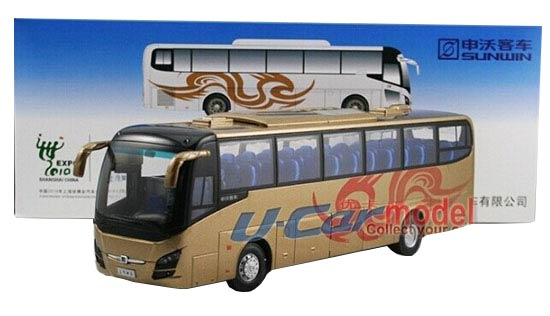 1:42 Scale Golden / Silver Die-Cast ShangHai Sunwin Tour Bus