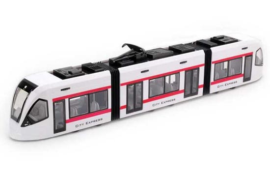 Kids 1:43 Scale Plastics White City Express Trolley Bus Toy