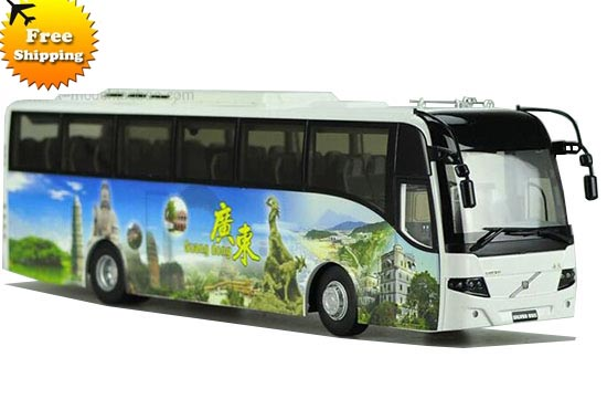 1:42 Scale China Tourism GuangDong Die-Cast Volvo 9300 Bus Model