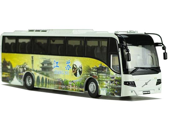 1:42 Scale China Tourism JiangSu Die-Cast Volvo 9300 Bus Model
