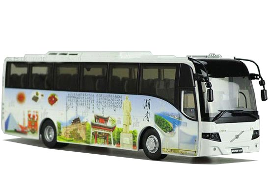 1:42 Scale China Tourism HuNan Die-Cast Volvo 9300 Bus Model