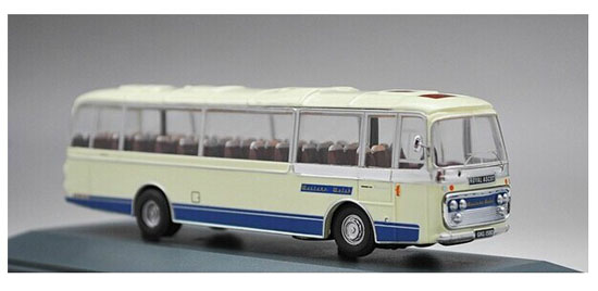 1:76 Scale White Corgi Brand Die-Cast Welsh Bus Model