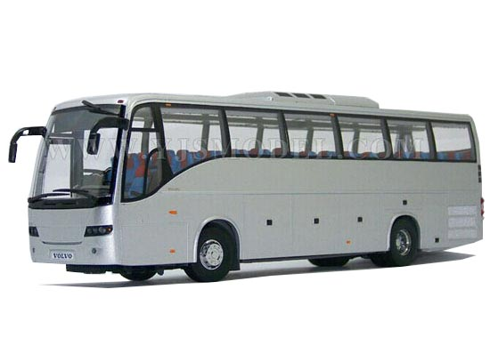 1:43 Scale Silver Die-Cast Volvo 9700 Bus Model