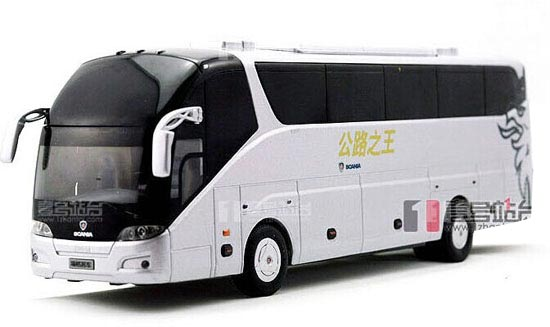 White 1:42 Scale Die-cast Scania Higer A90 Bus Model