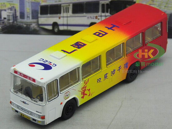Colorful Painting 1:76 Scale Die-Cast GuangZhou Bus Model