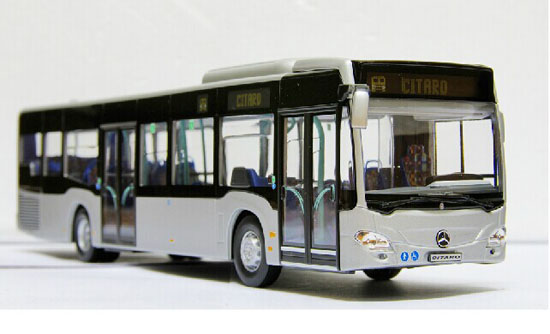 White 1:43 Scale NOREV Die-Cast Mercedes Benz Citaro Bus Model