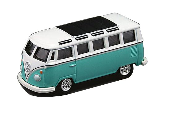 Kids 1:64 Scale Green / Blue / Yellow Die-Cast VW T1 Bus Toy