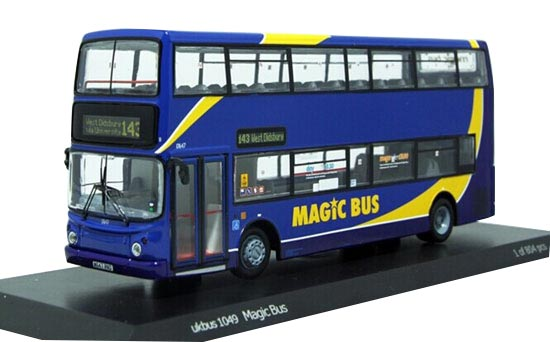 Blue 1:76 Scale CMNL Die-Cast Dennis Trident Double-Deck Bus