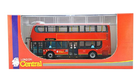 Red 1:76 Scale CMNL Die-Cast Britain E400 Double-Deck Bus