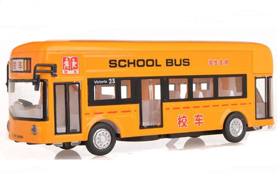 Kid Yellow 1:32 Scale Pull-Back Function Die-Cast School Bus Toy