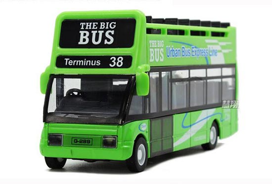 Kids 1:146 Scale Red / Green / Yellow Die-Cast Double-Decker Bus