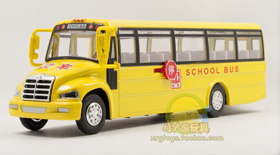 Kids Bright Yellow Chinese Style Die-Cast School Bus Toy