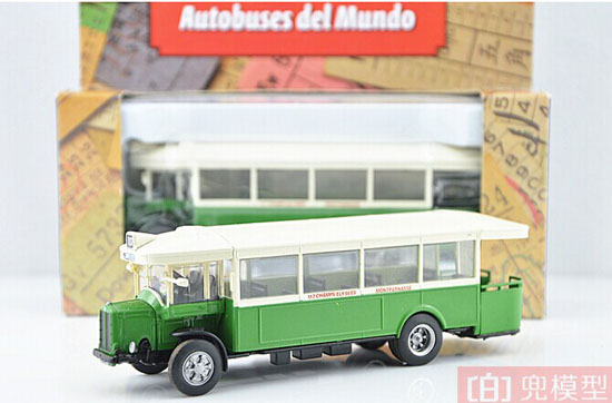 Green-White 1:72 Scale Die-Cast PARIS RENAULT Single-Deck Bus